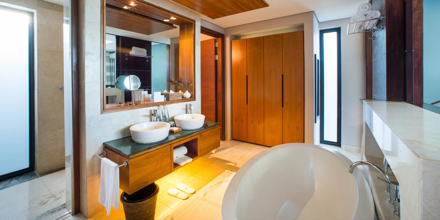 two bed villa bathroom